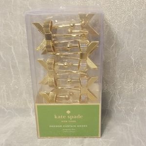 Kate Spade Shower Curtain Hooks Gold Bows